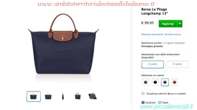 finest selection 4c44c 7a483 Prezzo Borsa Longchamp Media